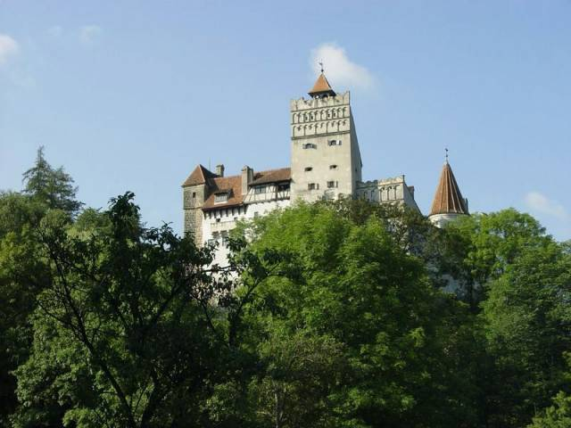 Dracula Castle on summer
