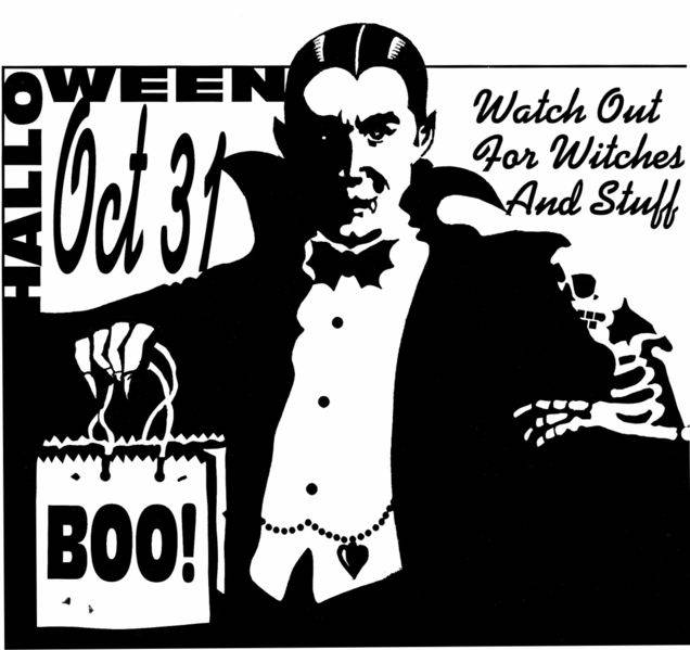 Halloween Count Dracula Poster
